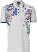 Just Cavalli dragon print polo shirt