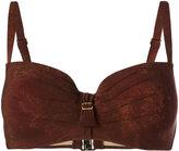 Marlies Dekkers Puritsu plunge bikini top D-size + - women - Polyamide/Polyester/Spandex/Elastane - 70E