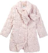Milly Minis Tie Neck Faux Fur Coat (Little Girls)