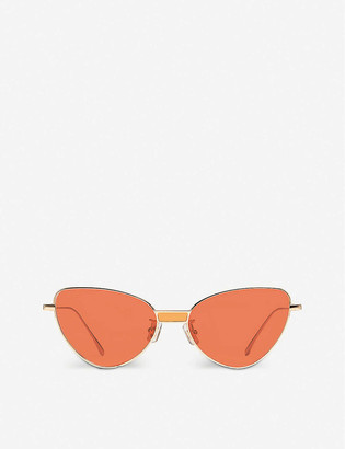 Gentle Monster Chakra 032(OR) gold-toned metal cat-eye sunglasses