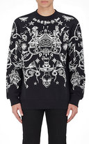Givenchy Men's Tattoo-Print Cotton French Terry Sweatshirt