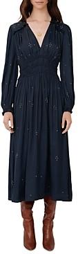 Maje Rianni Studded Smocked Dress