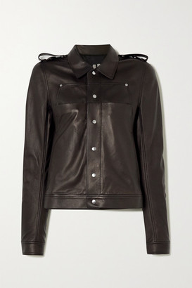 Rick Owens Babel Leather Jacket - Black