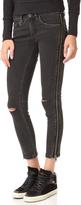 Blank Side Zipper Jeans