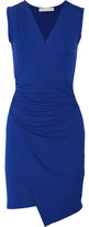 Kain Label Juno Wrap-Effect Ruched Stretch-Modal Dress