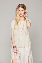 Free People Intimately Womens Sheer Smocked Bodice Cami