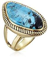 "Barse Basics"" Genuine Turquoise Abstract Ring, Size 7"