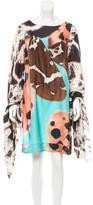 Blumarine Silk Printed Dress