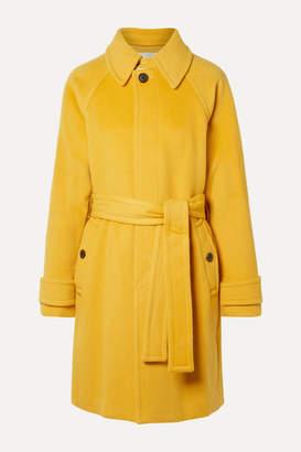 Diane von Furstenberg Lia Belted Wool Coat - Marigold