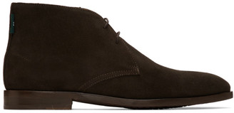 Paul Smith Brown Suede Arni Chukka Boots