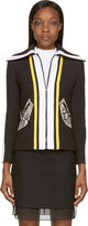 Carven Black Waffle Knit Jacket
