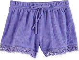 Carter's Lace-Trim Shorts, Little Girls (2-6X)