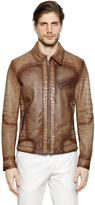Alligator & Nappa Leather Biker Jacket