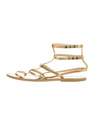 Isabel Marant Lambskin Gladiator Sandals Gold