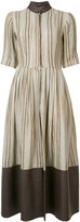 Sophie Theallet striped flared dress - women - Cotton/Linen/Flax/Polyamide - 10