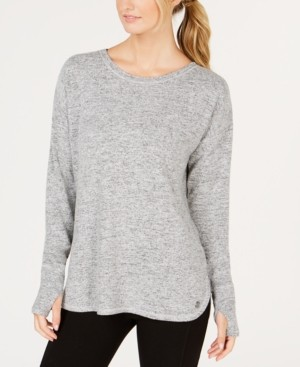 Ideology Heathered Long Sleeve Top, Created for Macy's