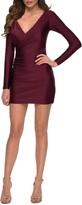 Thumbnail for your product : La Femme Surplice Long Sleeve Sheath Dress