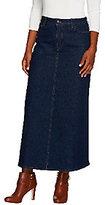 Denim & Co. Stretch Denim 5 Pocket Boot Skirt