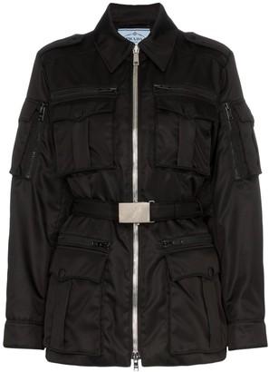 Prada Belted Nylon Utility Jacket