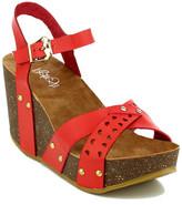 Refresh Mara Laser-Cut Wedge Sandal