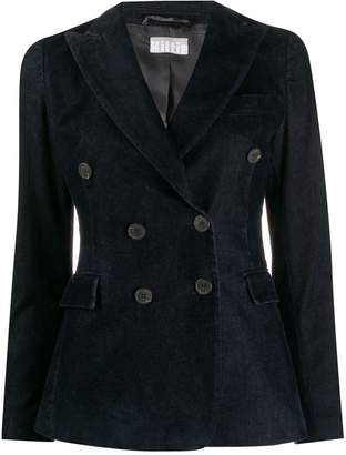 Kiltie double-breasted fitted jacket