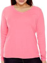 STYLUS Stylus Long-Sleeve V-Neck T-Shirt - Plus