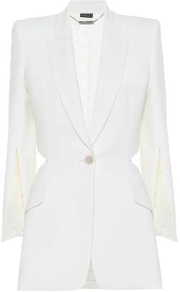 Alexander McQueen Wool-blend crApe blazer