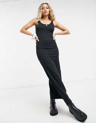 Vero Moda round-neck singlet dress in black