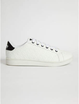 Disney George Mickey Mouse White Lace Up Trainers