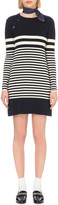 Claudie Pierlot Marine striped wool dress