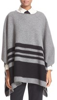 Kate Spade Stripe Merino Wool Poncho