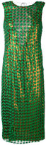 Marco De Vincenzo metallic effect dress - women - Polyester - 42