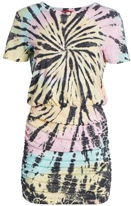 n:philanthropy Bangkok Tie Dye Ruched T-Shirt Dress