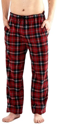 I Smalls Mens Classic Checked Polar Fleece Trouser Bottoms Loungewear in Red and Blue blue medium