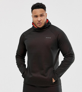 Asos 4505 4505 Plus hoodie with bonded inner fleece-Black