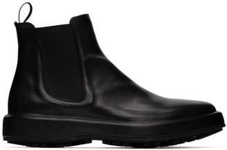 Officine Creative Black Unica 2 Chelsea Boots
