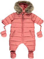 Tartine et Chocolat Quilted Faux Fur Snowsuit