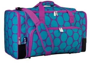 Wildkin Big Dot Aqua Weekender Duffel Bag
