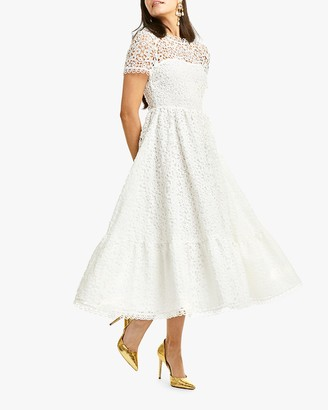 Mestiza Alfama Daisy-Chain Lace Midi Dress