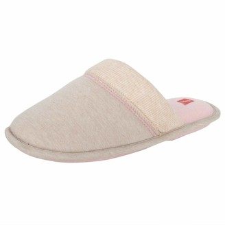 Hanes Womens Open Toe Contrast Plaid Slide Slipper with Memory Foam and Anti-Skid Sole (Size Extra Large