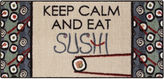 Asstd National Brand Keep Calm Sushi Rectangular Rug
