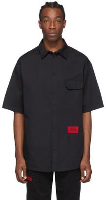 424 Black Logo Short Sleeve Shirt