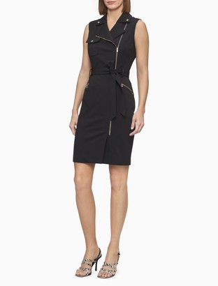 Calvin Klein Moto Zip Sheath Dress
