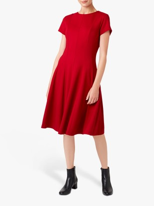 Hobbs Tessa Dress, Dark Red