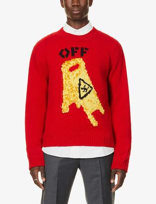 Off-White Wet Floor-print wool-blend sweatshirt