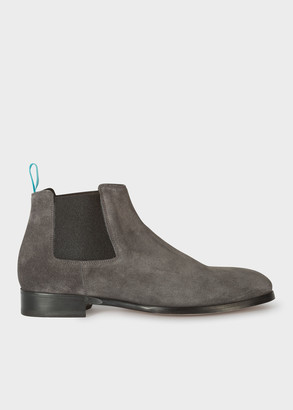 Paul Smith Men's Grey Suede 'Crown' Chelsea Boots