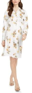 Calvin Klein Mixed-Print A-Line Dress