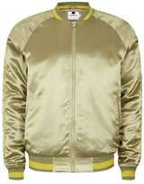 Topman Sage Green Embroidered Python Souvenir Jacket