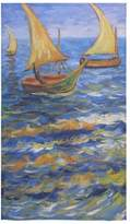 Van Gogh's Painting Towel New Year/Christmas Gifts Sail Boat By Van Gogh Thin Soft Towel(One-sided Printing)