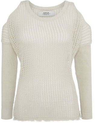 Replay Loose-Knit Cotton Sweater.